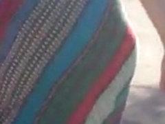 Wide hips in sun dress