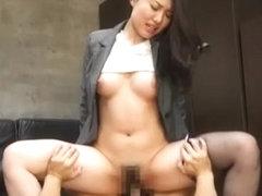 Horny Japanese slut Ryo Kashima in Crazy Hardcore, Fingering JAV video