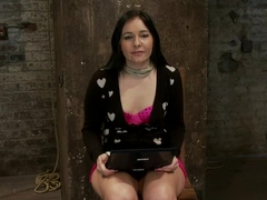 Ashli has her huge puffy nipples tortured, is made to cum & skull fucked Takes a great body floggi.