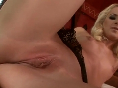 Slender and sexy shaped blonde girl Blond Cat hotly undressing and spreading legs to show off her .