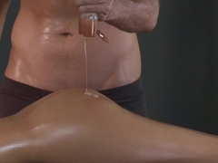 Sexy Asa Akira getting drilled by a big dick after a massage
