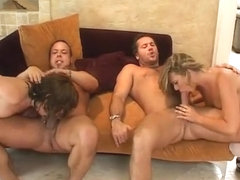 Hottest pornstars Brianna Beach and Missy Monroe in amazing group sex, deep throat porn video
