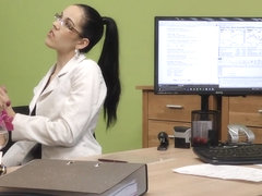 LOAN4K. Teen secretary feels like a cheap slut at the adult casting