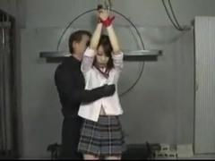 Japanese paipan slave girl cumshot