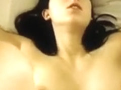 Helena my GF fucking her and cum on her tits