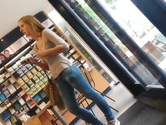 Gorgeous teen at pharmacy
