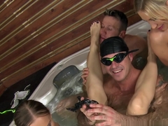 Fabulous pornstars Lindsey Olsen, James Brossman in Crazy Facial, Group sex porn clip