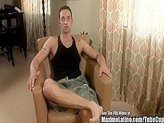 Handsome Latin Italian Strokes His Cock