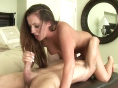 Richelle Ryan loves to suck on big dicks and tease them with her tits