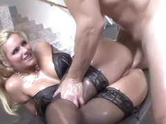 Olied Anal babe