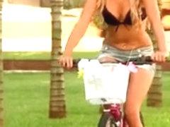 Brazilian teen bitches enjoying a bike ride