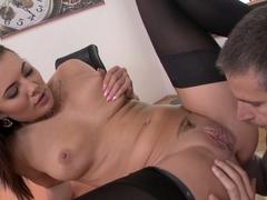 Incredible pornstars Vanessa Decker, Toby in Crazy Medium Tits, Stockings sex video