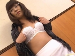 Horny milf Mai Satsuki gets her ass and pussy toyed.