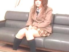 Short chubby Japanese teen dicked silly on a hidden cam