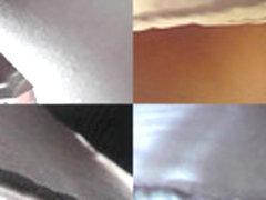 Skinny-ass gal caught wearing thong in upskirt vid