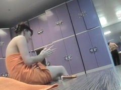 Amateur sitting and staying naked on voyeur camera