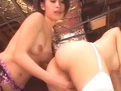 Crazy Japanese slut Yuka Osawa, Saki Ootsuka in Exotic Lesbian/Rezubian, Lingerie JAV clip