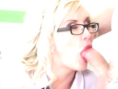 European milf oral sex and cum on tits