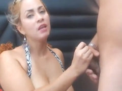 Hot Pretty Babe Getting Fuck From Behind After Blowjob