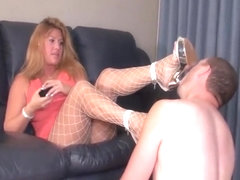 Hot Mistress with her subby
