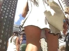 Stunning girl's hot ass in an upskirt