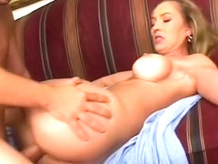 Stacked blonde cougar loves to have a long cock pounding her wet peach