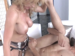 MILF pegging submissive boyfriend doggystyle