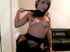 Pervy webcam whore posing in stockings