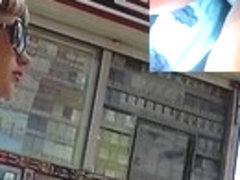 Hawt playgirl filmed by upskirt spy web camera