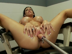 Hottest fetish, squirting xxx clip with exotic pornstar Jenna Presley from Fuckingmachines