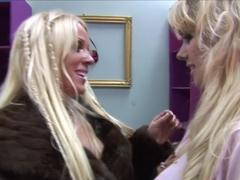 Exotic pornstars Syren Sexton and Cindy Behr in fabulous blonde, big tits sex clip