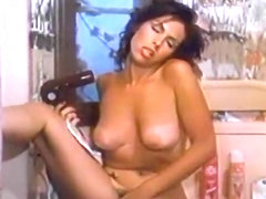 Incredible facial classic scene with Jesse Adams and Janey Robbins