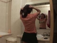 Hot fuck in bathroom