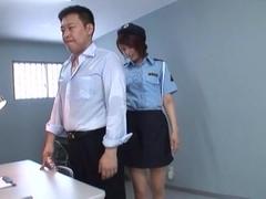 Alluring Asian chick Nanami Kawakami is police costume