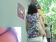 Wonderful legal age teenager upskirt in public