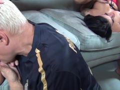 Best pornstars Ralph Long, Angelina Valentine, Taylor Wane in Exotic Cumshots, Facial porn scene