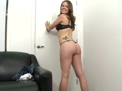 Cute white girl with a big butt