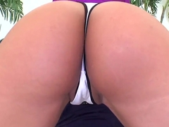 Busty Mariah Milano pleasures horny handsome stud