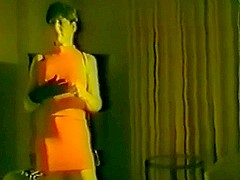 Gal screws a guy in a vintage femdom video