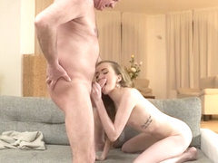 DADDY4K. Smoking hot Jessi cheating on her bf with his dad