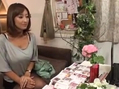 Horny Japanese Wife Massaged and then Fucked