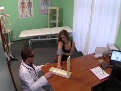 Hot 20s gymnast seduced by doctor and given creampie