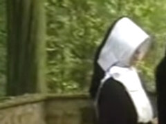 2 nuns chastise and abuse a juvenile beauty