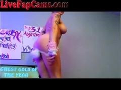 Hot Webcam Bunny Girl Masturbates