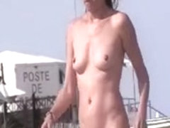 French nudist beach Cap d'Agde people walking naked 04