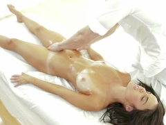 Busty Dillion Harper gets oiled up