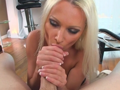 Exotic pornstars Jordan Pryce, Diana Doll, Lina Paige in Horny Blonde, Blowjob sex clip