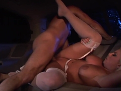 Britney Amber bounces her pussy on this hard prick