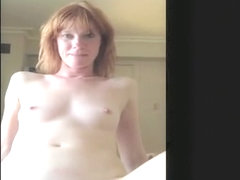 Exotic private redhead, cellphone, closeup sex clip