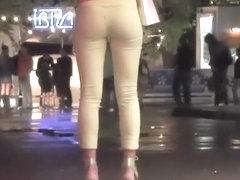 Hot girls leaving the night club